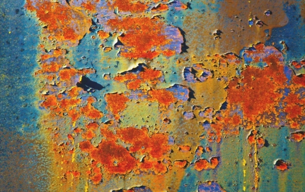 Bleeding Colors 100 Years of Rust and Paint Poster or Canvas