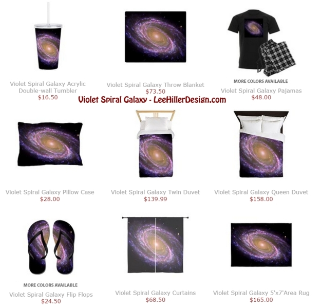 Violet Spiral Galaxy Bedroom Space