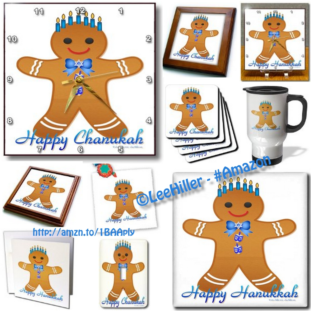 Hanukkah Gifts  – Gingerbread Man Menorah