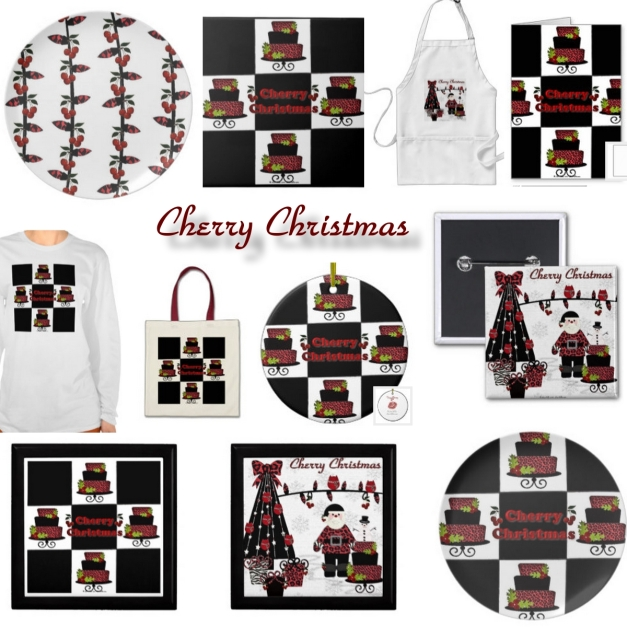 RAB Rockabilly Cherry Christmas by Lee Hiller Designs