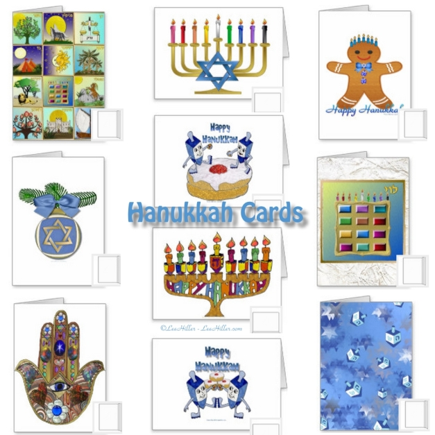 Hanukkah Cards by Lee Hiller Designs
