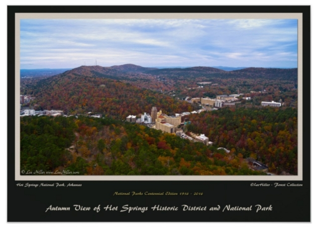 Hot Springs City and National Park Centennial 1916 - 2016 Ed Poster
